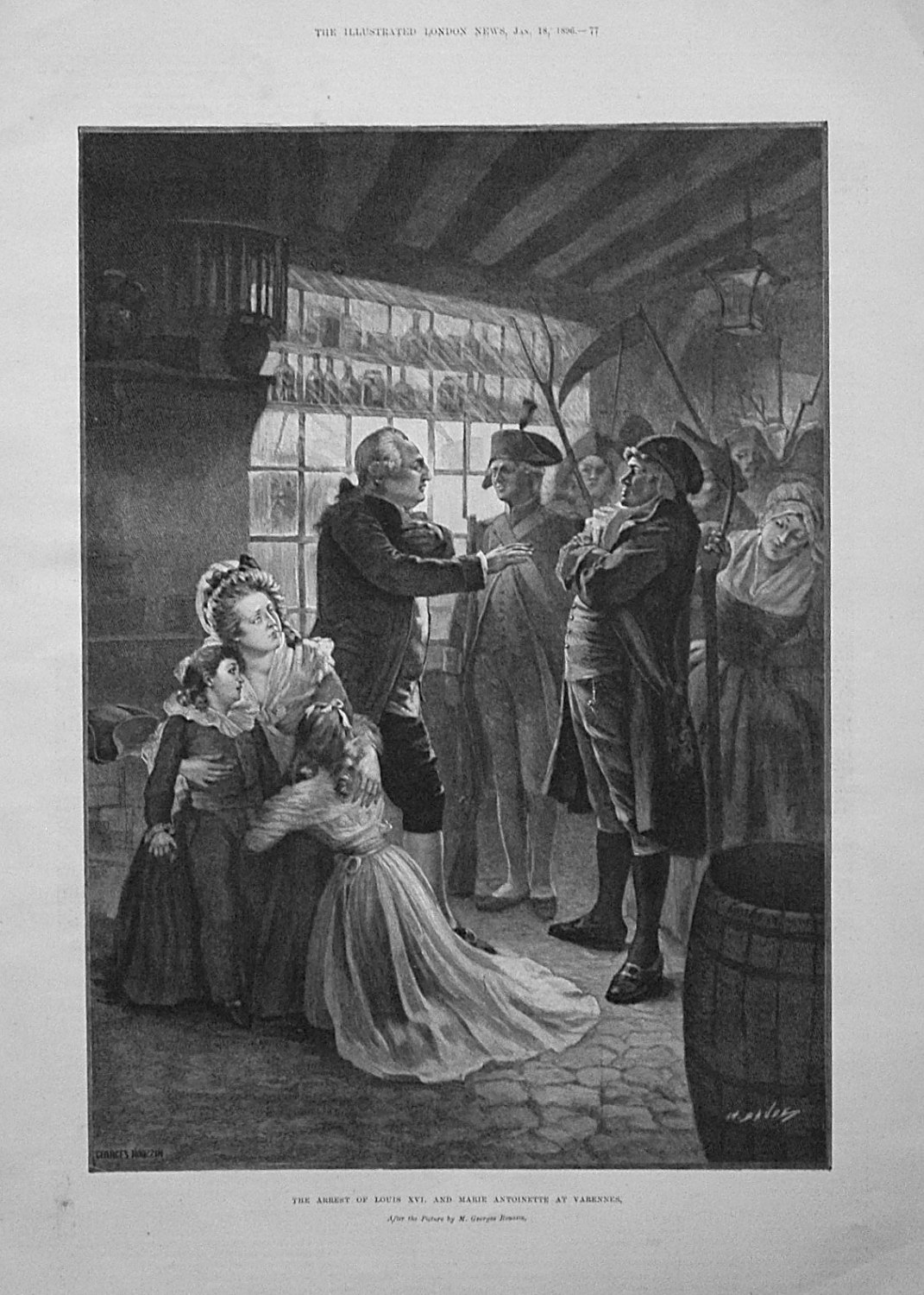 The Arrest of Louis XVI. and Marie Antoinette at Varennes. 1896