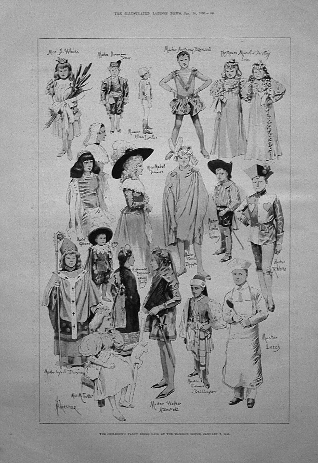The Children's Fancy Dress Ball, at the Mansion House, January 7th, 1896.