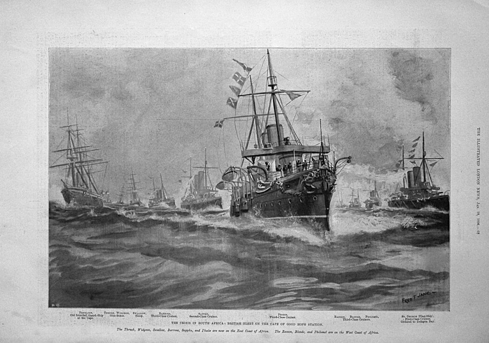 The crisis in South Africa : British Fleet on the Cape of Good Hope Station