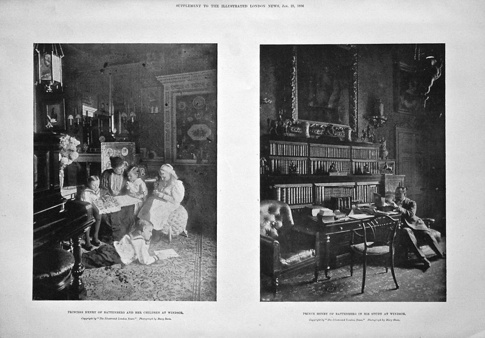Princess Henry of Battenberg and Her Children at Windsor. 1896