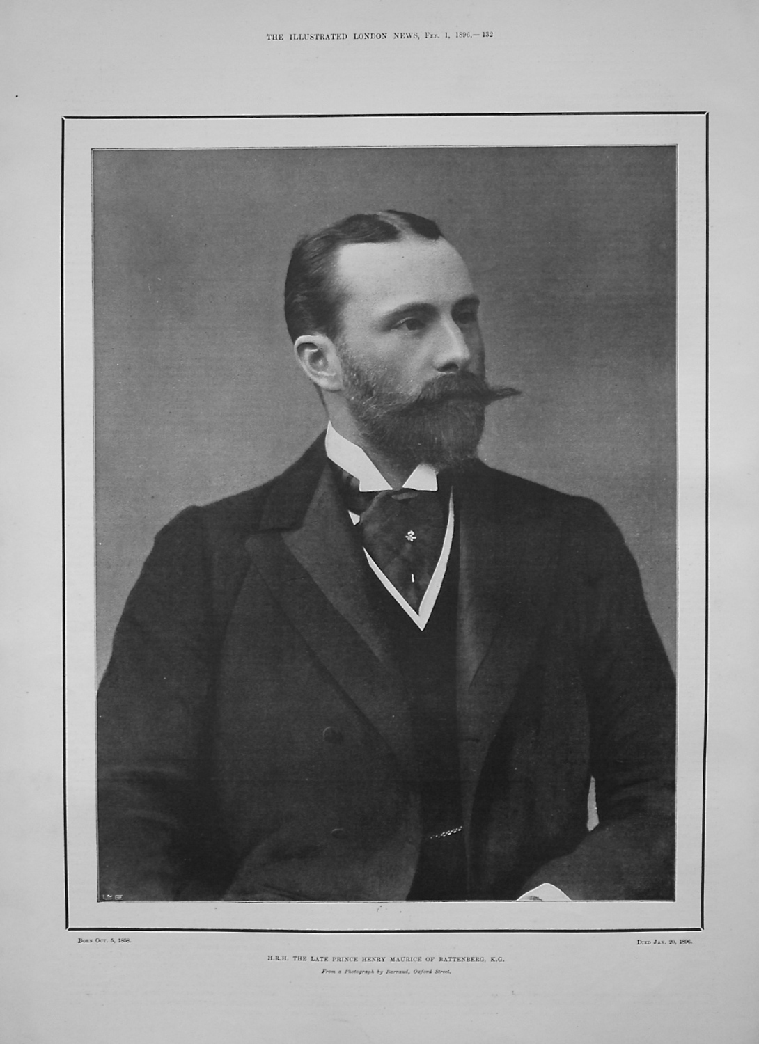 H.R.H. The Late Prince Henry Maurice of Battenberg, K.G.