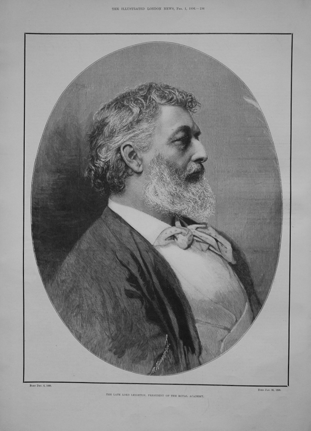 The Late Lord Leighton, President of the Royal Academy.