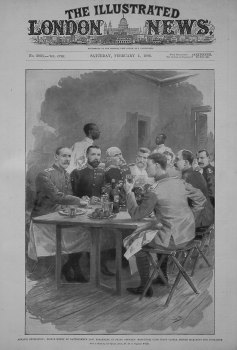 Ashanti Expedition : Prince Henry of Battenberg's Last Breakfast, in Staff Officers' Mess-Room, Cape Coast Castle, before Marching for Coomassie.