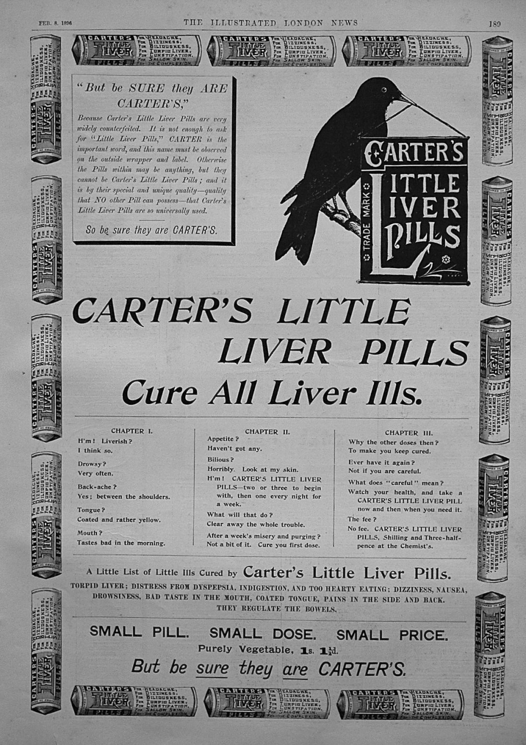Carter's Little Liver Pills. 1896