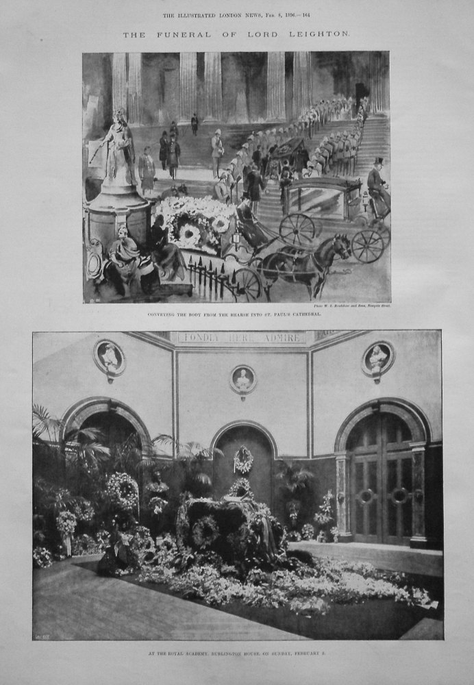 The Funeral of Lord Leighton. 1896