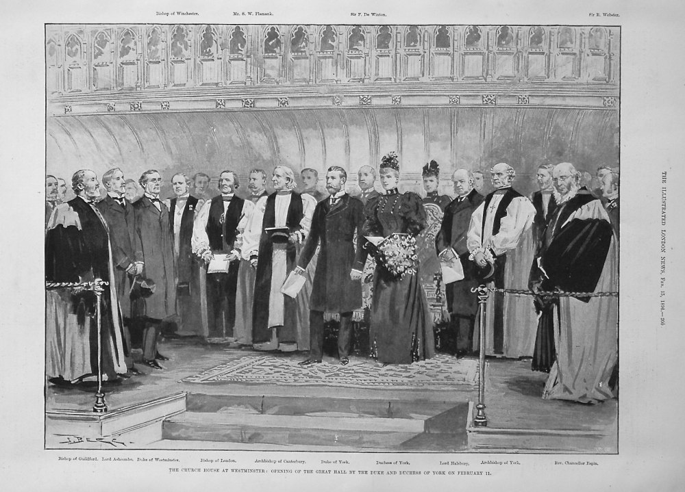 The Church House at Westminster : Opening of the Great Hall by the Duke and