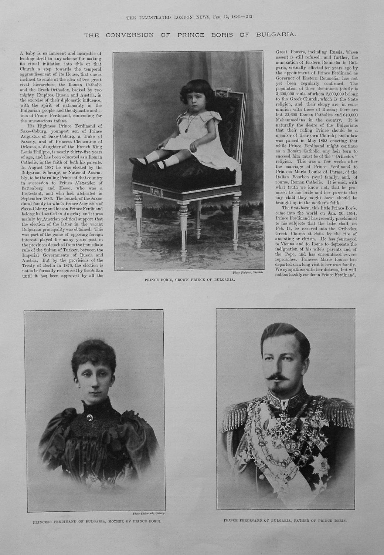 The Conversion of Prince Boris of Bulgaria. 1896