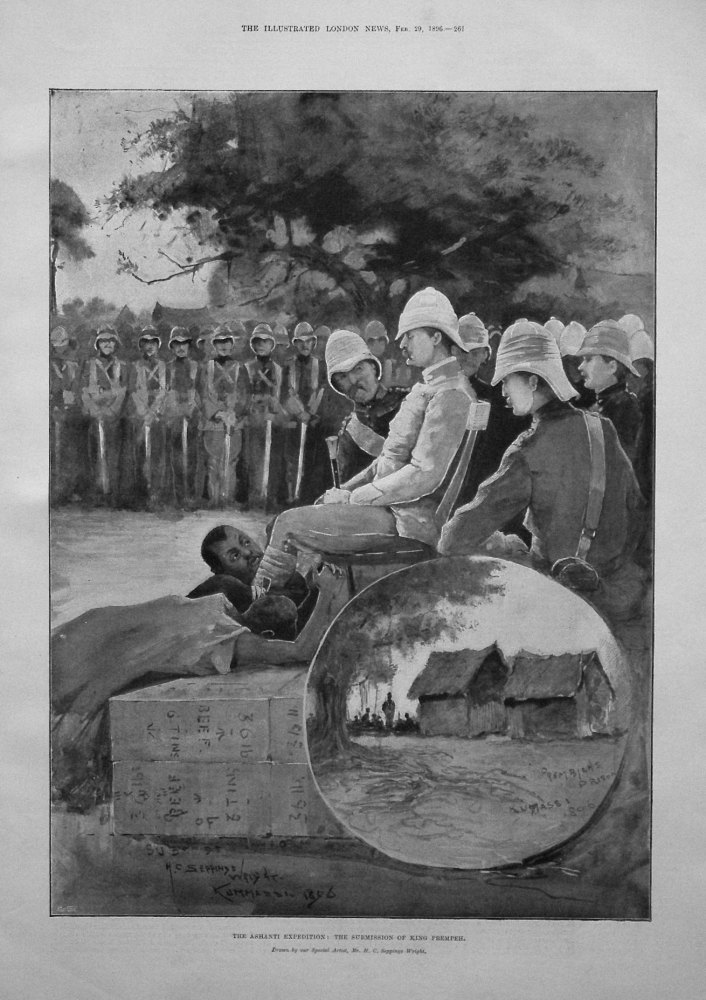 The Ashanti Expedition : The Submission of King Prempeh. 1896