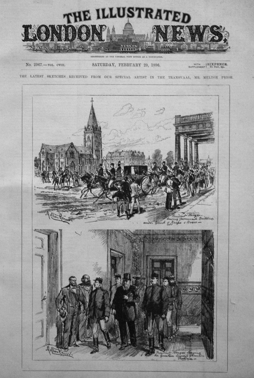Illustrated London News February 29th 1896.