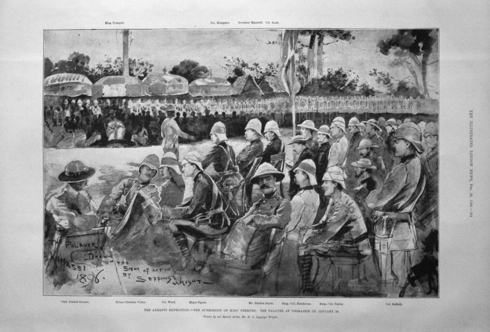 The Ashanti Expedition. - The Submission of King Prempeh : The Palaver at C