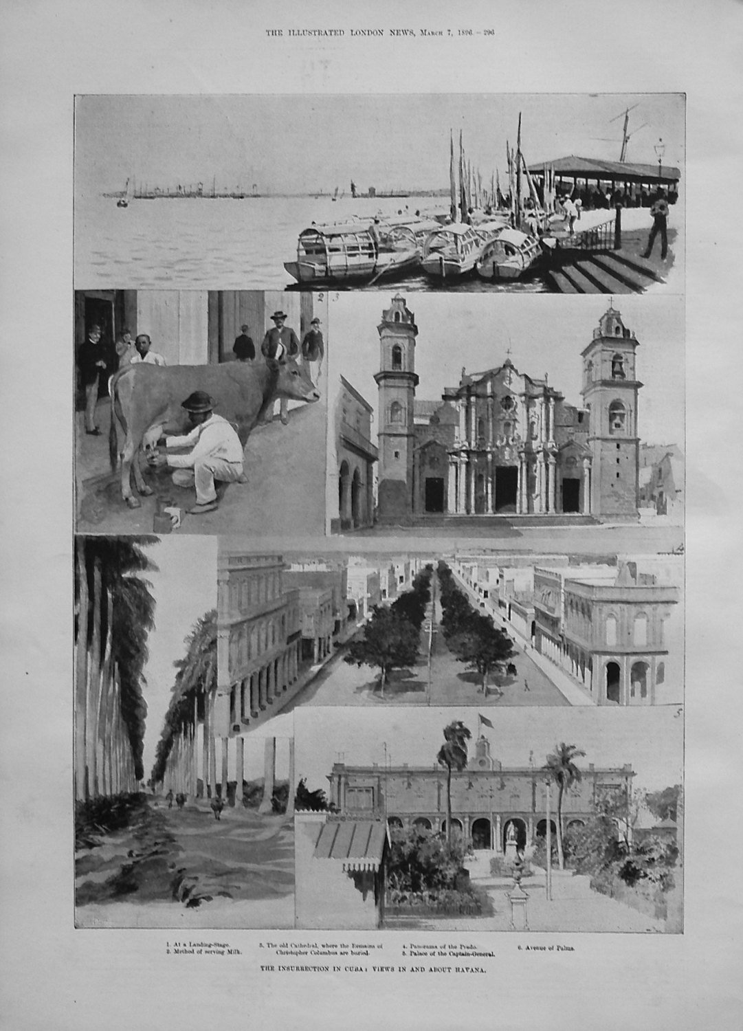 The Insurrection in Cuba : Views in and about Havana. 1896