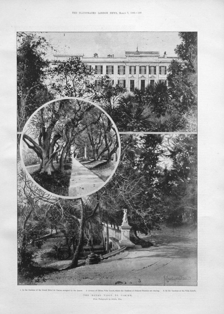 The Royal Visit to Cimiez. 1896