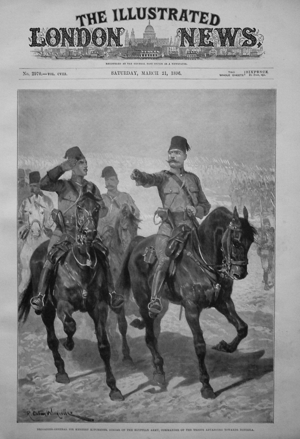 Brigadier-General Sir Herbert Kitchener, Sirdar of the Egyptian Army, Comma