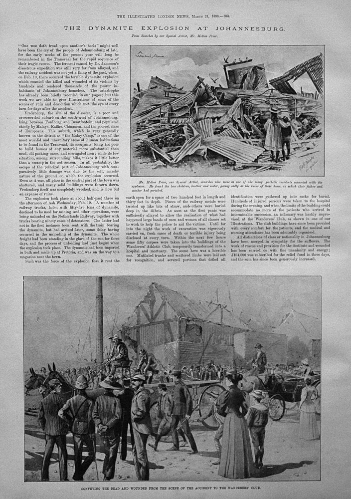 The Dynamite Explosion in Johannesburg. 1896