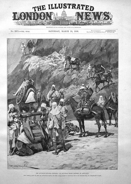 The Advance Towards Dongola : An Egyptian Mixed Battery of Artillery. 1896