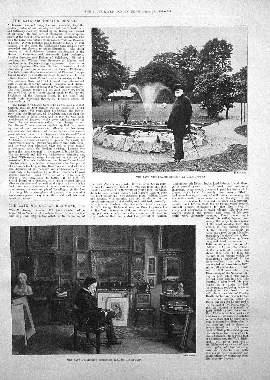 The Late Archdeacon Denison. 1896