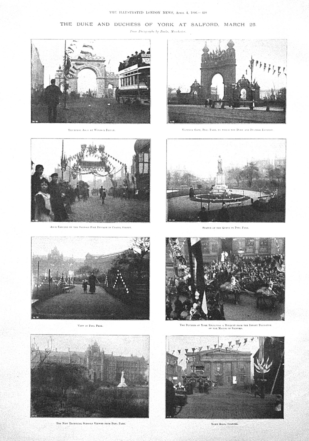 The Duke and Duchess of York at Salford, March 25th 1896