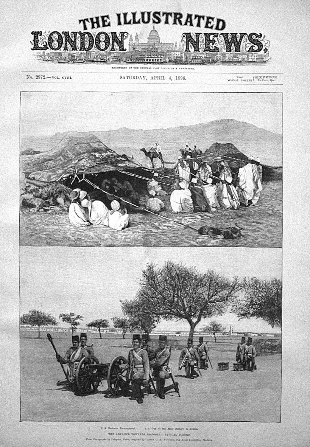 The Advance Towards Dongola : Typical Scenes. 1896