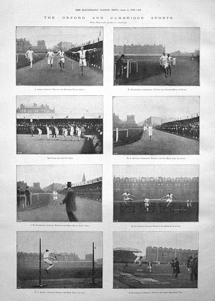 The Oxford and Cambridge Sports. 1896
