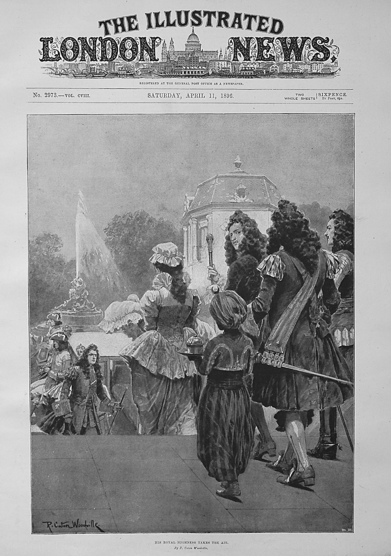 His Royal Highness Takes the Air. 1896
