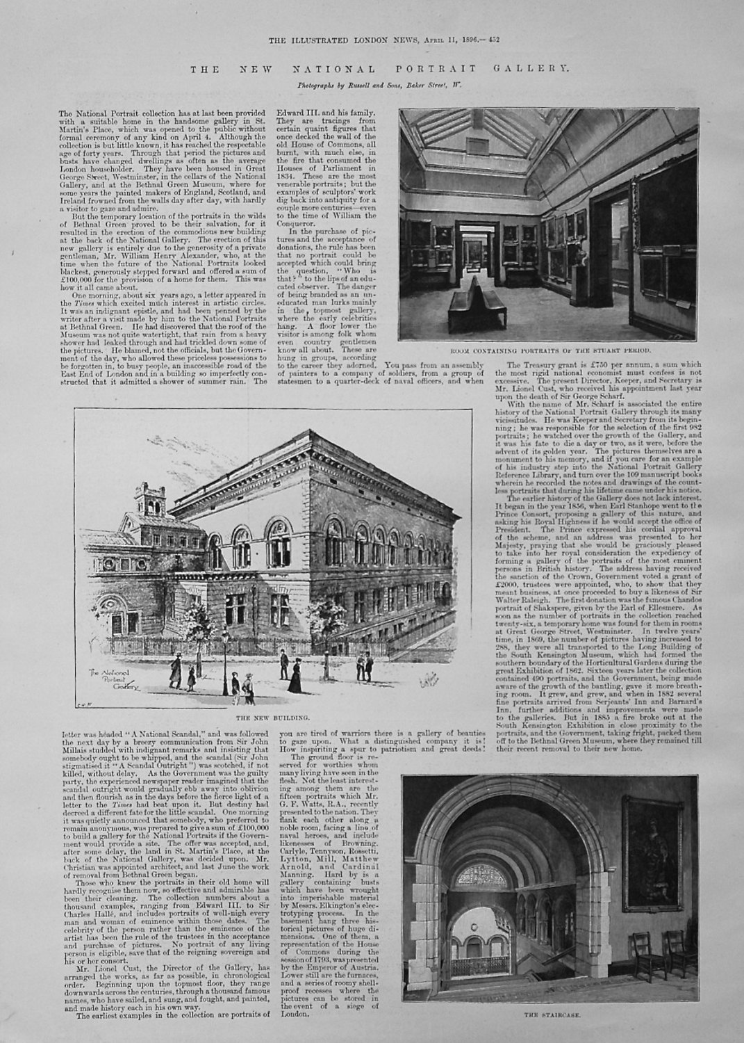 The New National Portrait Gallery. 1896
