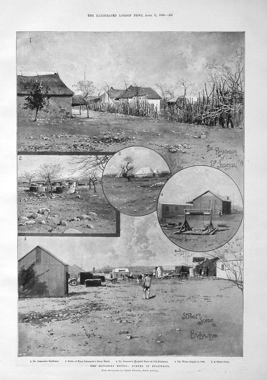 The Matabili Rising : Scenes in Buluwayo. 1896