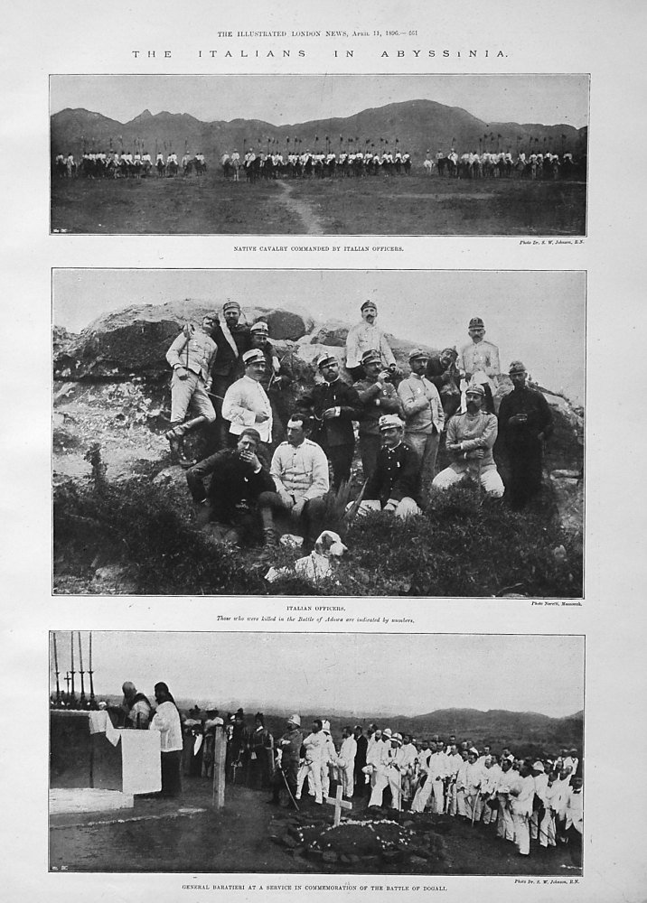 The Italians in Abyssinia. 1896