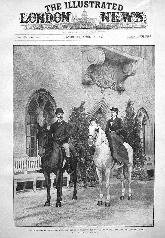 The royal Wedding at Coburg : The Hereditary Prince of Hohenlohe-Langenburg