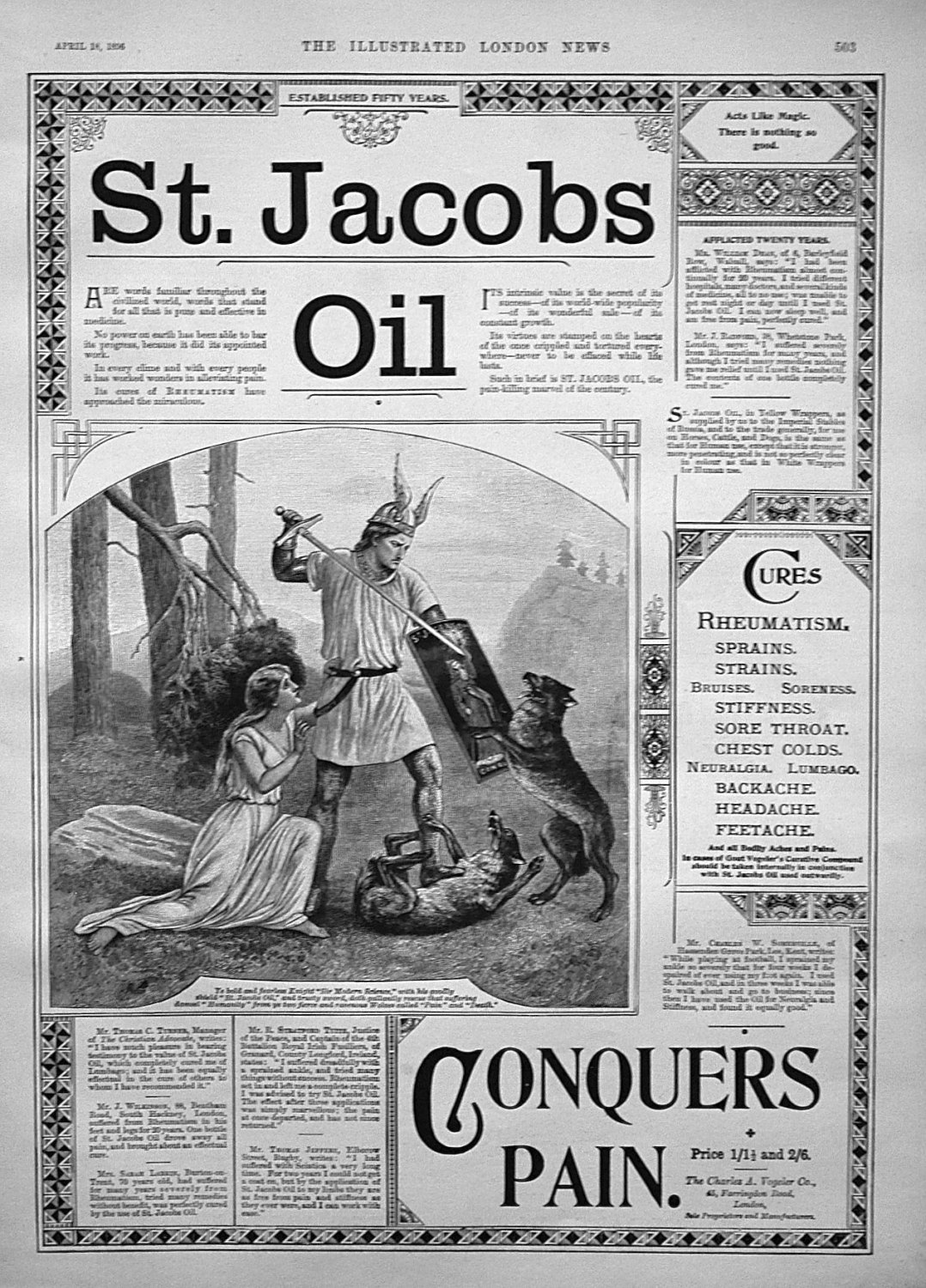 St. Jacobs Oil. 1896