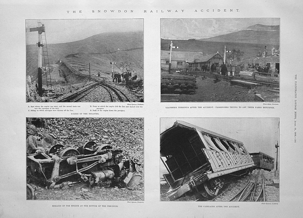 The Snowdon Railway Accident. 1896