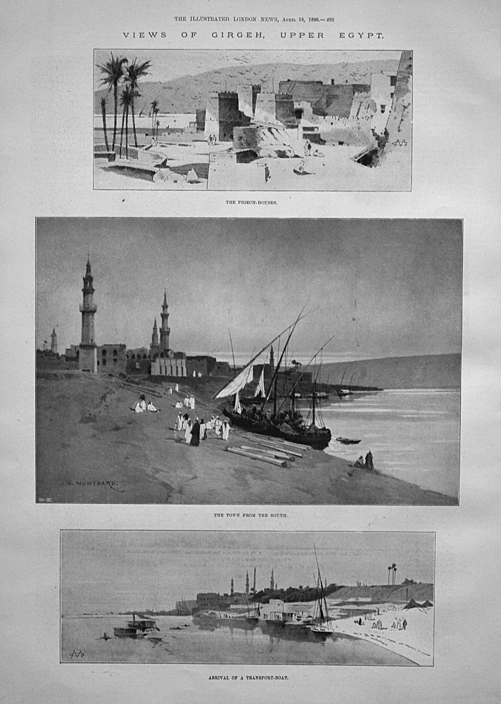 Views of Girgeh, Upper Egypt. 1896