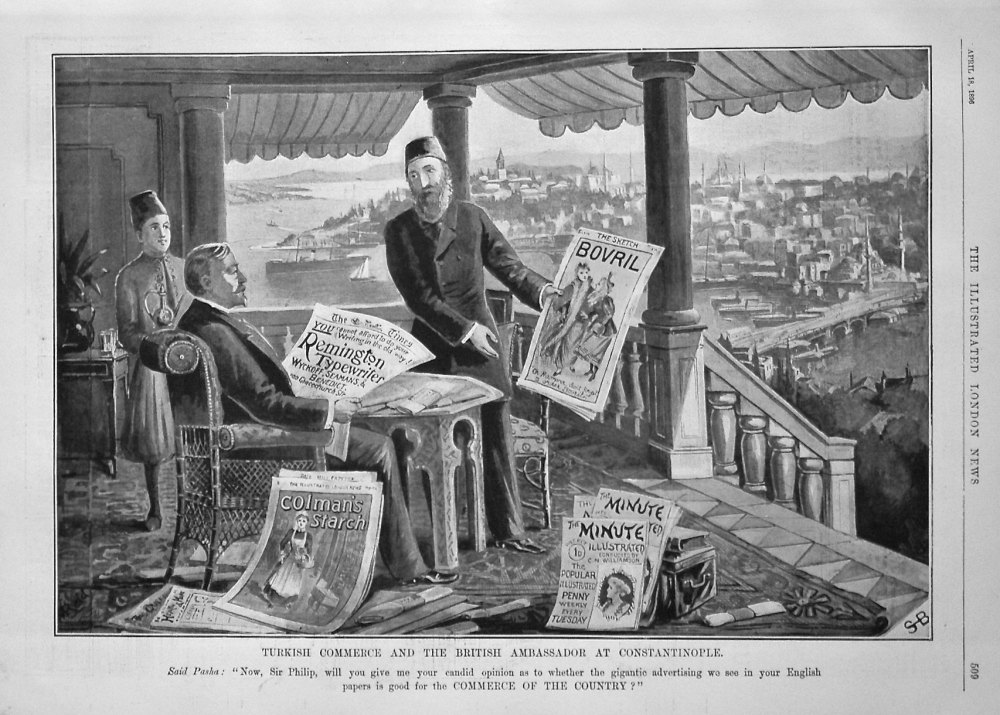 Turkish Commerce and the British Ambassador at Constantinople. 1896