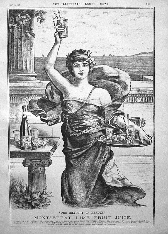 Montserrat Lime-Fruit Juice. 1896