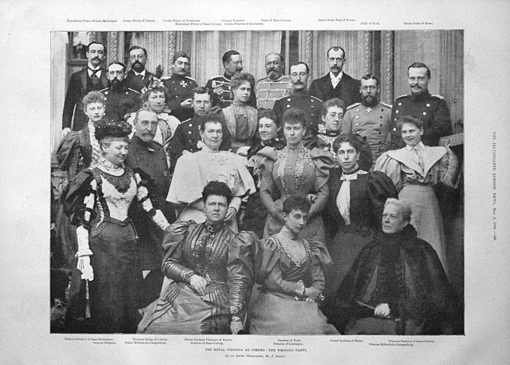 The Royal Wedding at Coburg : The Wedding Party. 1896