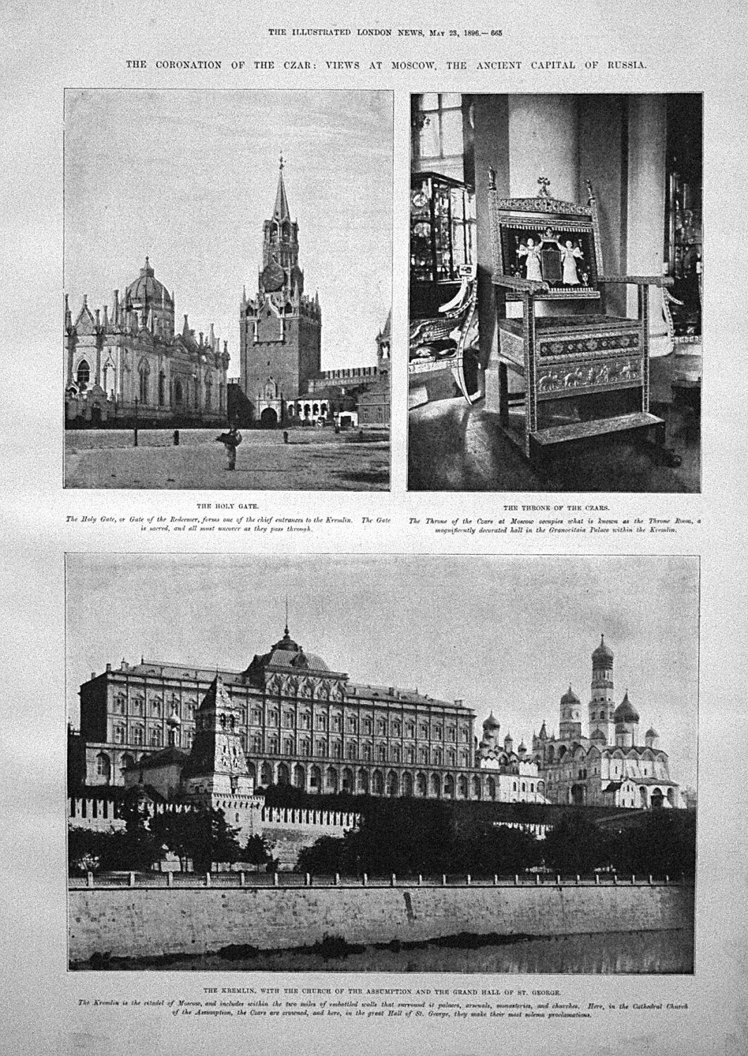 The Coronation of the Czar : Views at Moscow, The Ancient Capital of Russia