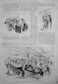 A Great Cycle Manufactory. 1896