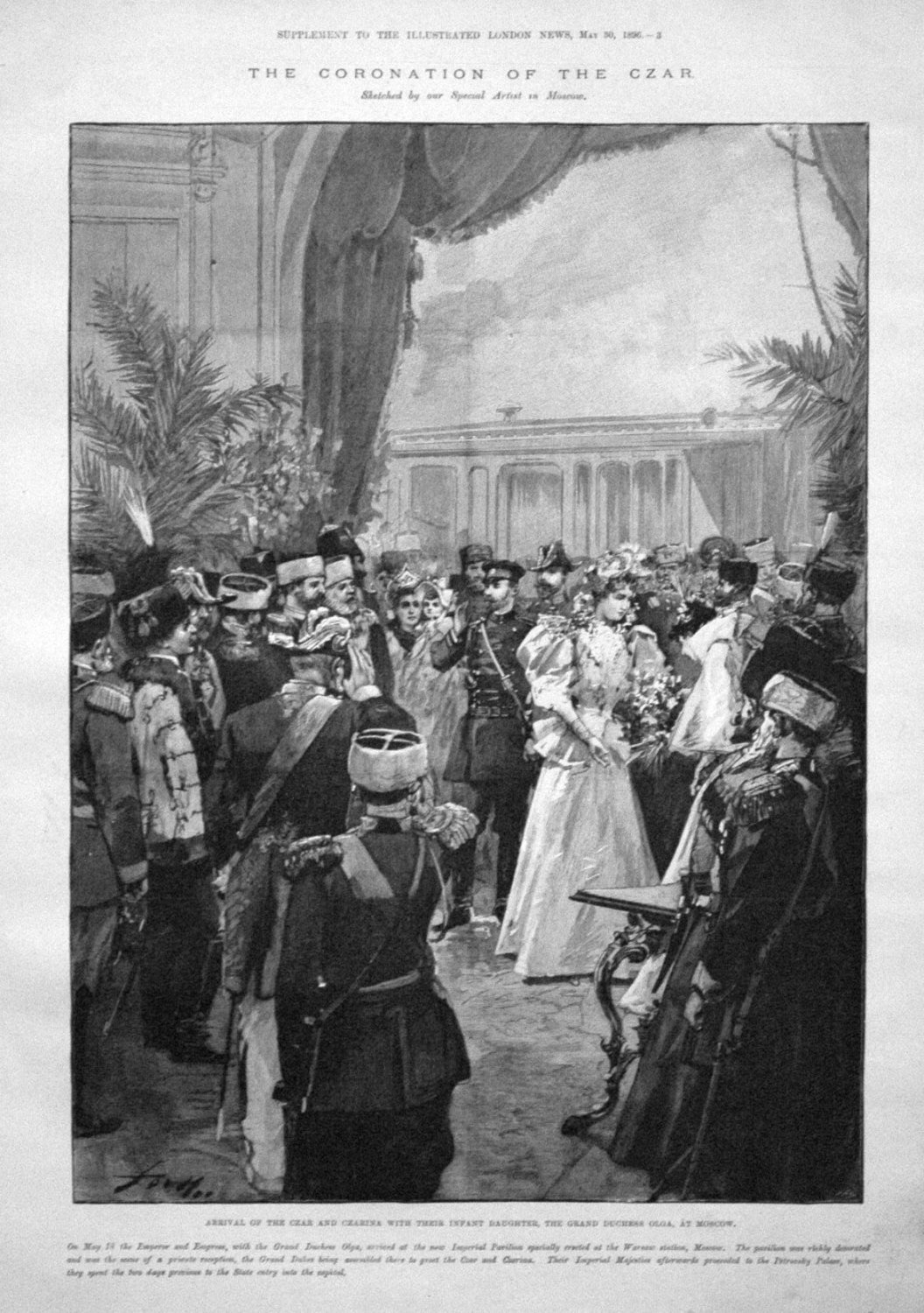 The Coronation of the Czar. Arrival of the Czar and Czarina with their Infa