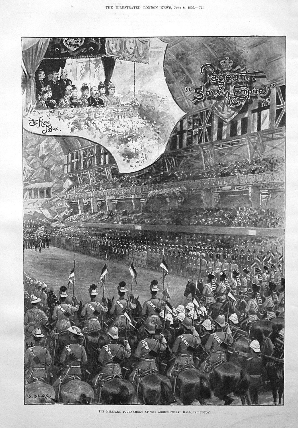 The Military Tournament at the Agricultural Hall, Islington. 1896