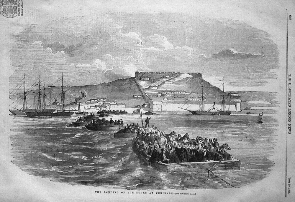 The Landing of the Turks at Yenikale. 1855