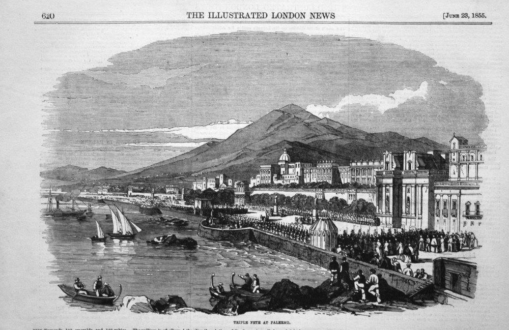 Triple Fete at Palermo. 1855