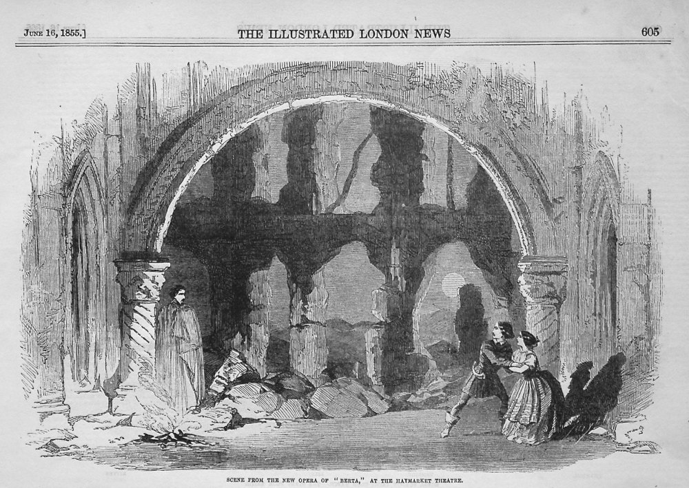 """Mr. Smart's Opera of """"Berta."""" 1855"""