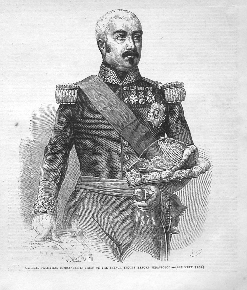 General Pelissier, Commander-in-Chief of the French Troops before Sebastopo