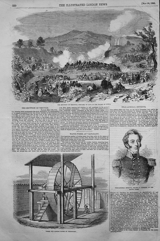 The Eruption of Vesuvius. 1855