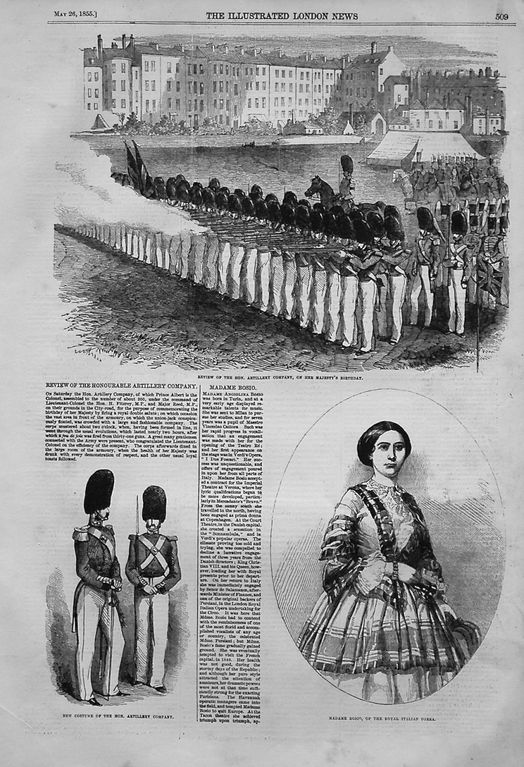 Review of the Honourable Artillery Company. 1855