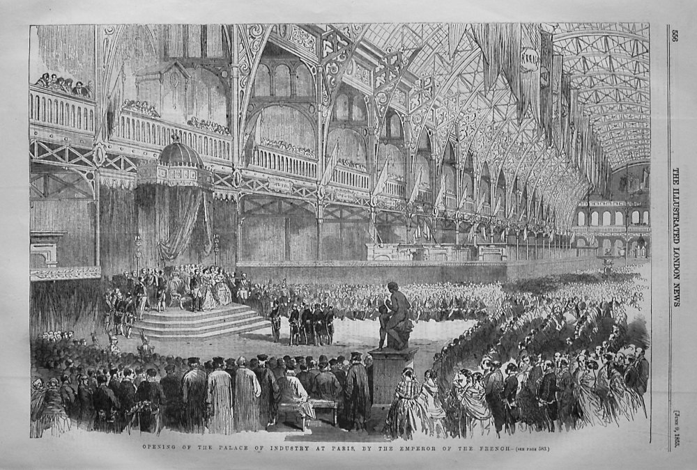 Opening of the Palace of Industry at Paris, by the Emperor of the French. 1