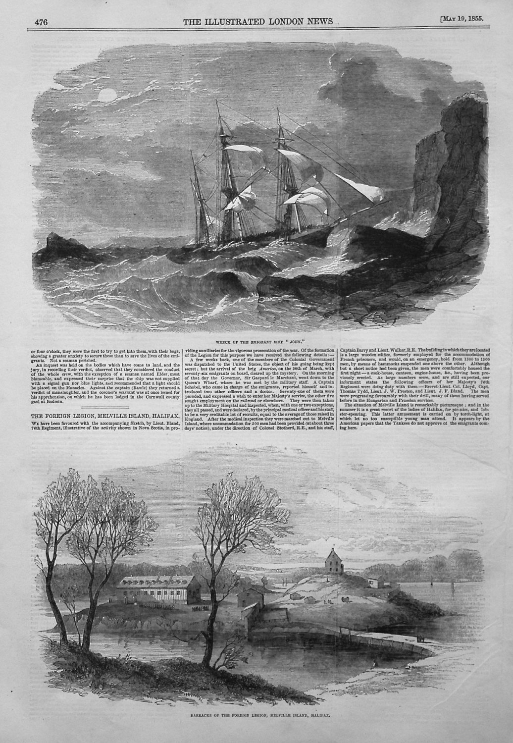 Wreck of the Emigrant Ship