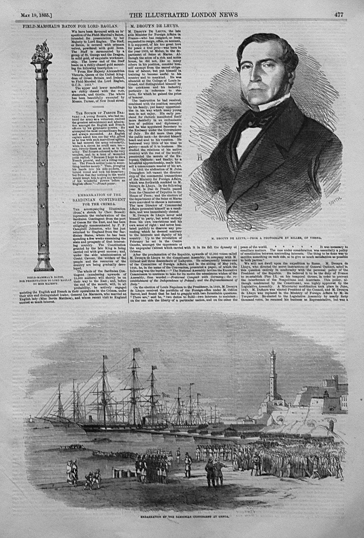 Embarkation of the Sardinian Contingent at Genoa. 1855