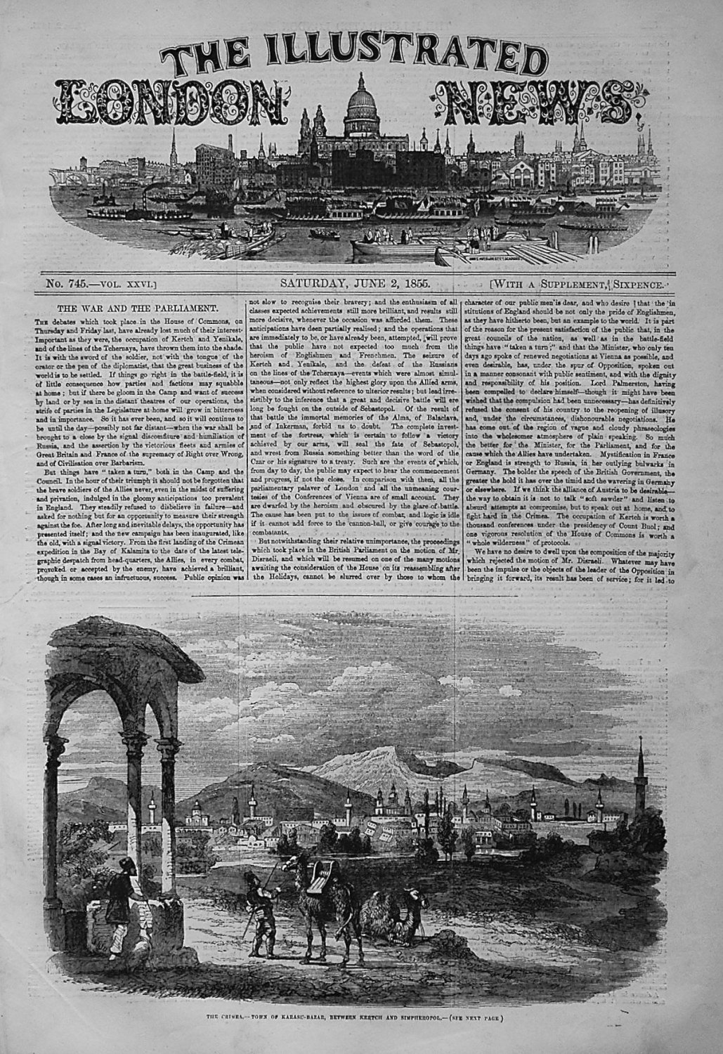 Illustrated London News June 2nd 1855.