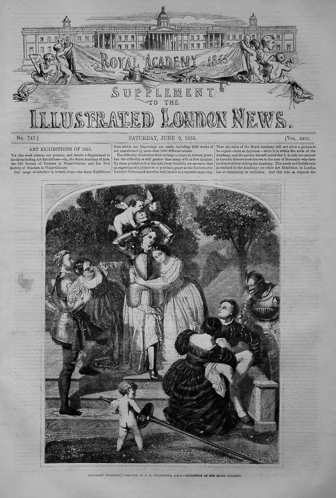 Illustrated London News June 9th 1855, - Arts Supplement..