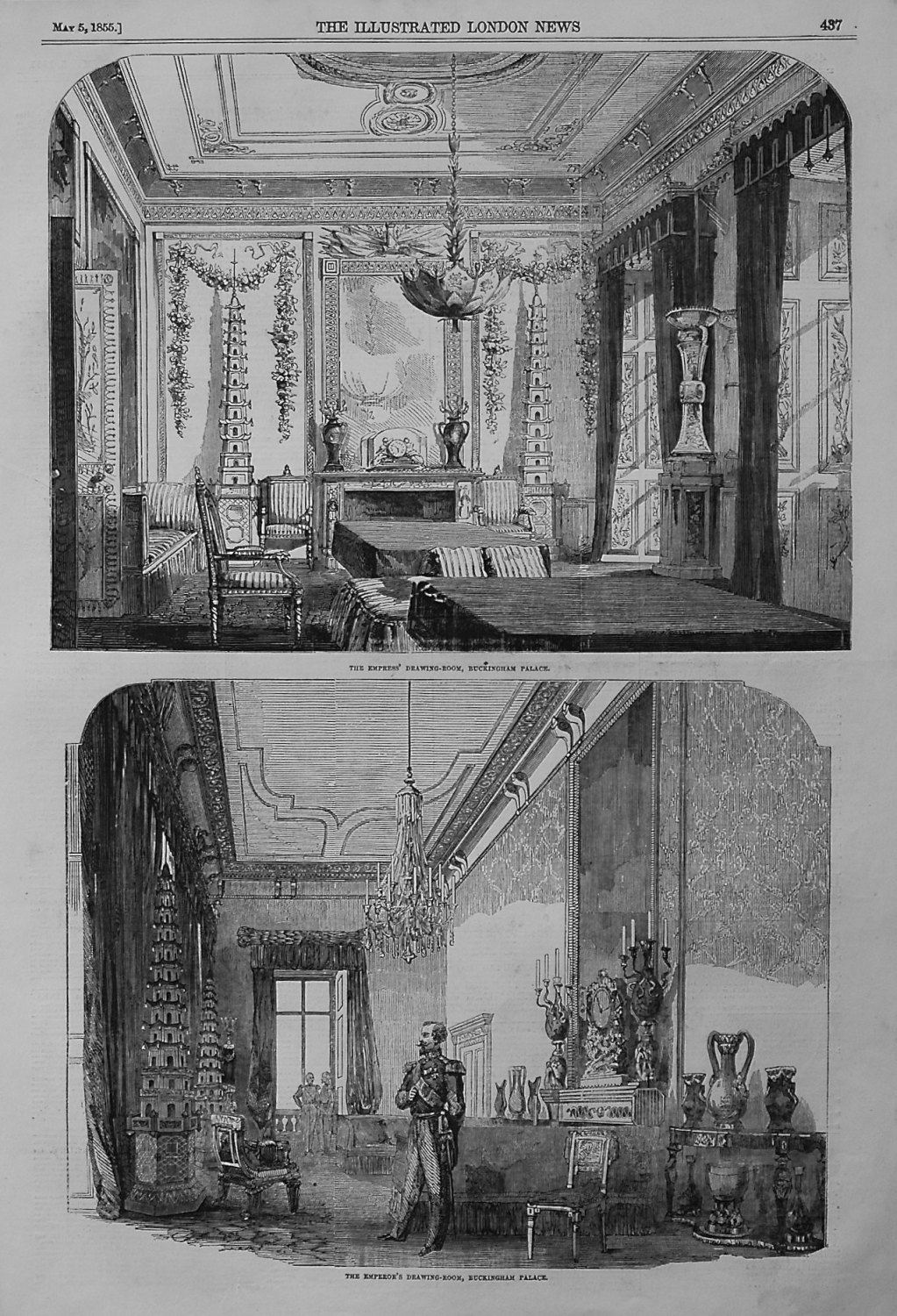 The Empress' Drawing-Room, Buckingham Palace. 1855